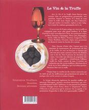 Le vin et la truffe ; itinéraires d'un trufficoteur impénitent - 4ème de couverture - Format classique