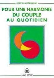 Pour Une Harmonie Du Couple Au Quotidien - Couverture - Format classique