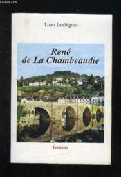 Rene De La Chambeaudie - Couverture - Format classique