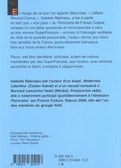 Lettre Ouverte A Superfrancais - 4ème de couverture - Format classique