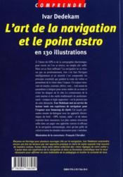 Comprendre l'art de la navigation et le point astro - 4ème de couverture - Format classique