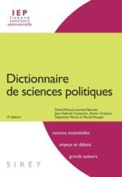 Dictionnaire de sciences politiques et sociales (2e édition) - Couverture - Format classique