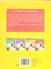 Feuilles d'exercices calcul ; CE1, 2e primaire - 4ème de couverture - Format classique