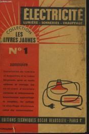Electricite. Lumiere, Sonneries, Chauffage. - Couverture - Format classique
