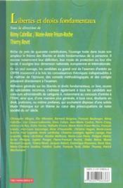 Libertes Et Droits Fondamentaux ; Cours Exercices Corriges ; 8e Edition - Couverture - Format classique