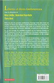 Libertes Et Droits Fondamentaux ; Cours Exercices Corriges ; 8e Edition - 4ème de couverture - Format classique