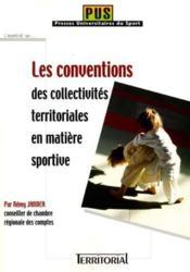 Les Conventions Des Collectivites Territoriales En Matiere Sportive - Couverture - Format classique