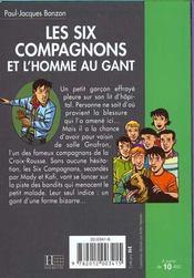 Les six compagnons - t07 - les six compagnons 07 - les six compagnons et l'homme au gant - 4ème de couverture - Format classique