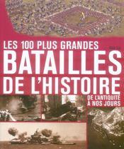 Les 100 plus grandes batailles de l'histoire de l'antiquité à nos jours - Intérieur - Format classique