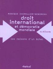 Droit international et démocratie mondiale ; les raison dun échec - Intérieur - Format classique