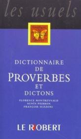 Dict de proverbes et dictons - Couverture - Format classique