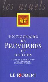 Dict de proverbes et dictons - Intérieur - Format classique