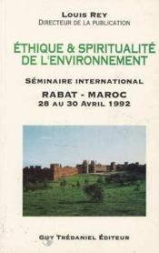 Ethique et spiritualite de l'environnement - Couverture - Format classique