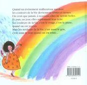Les couleurs de la vie - 4ème de couverture - Format classique