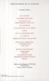 Oeuvres complètes t.3 ; 1949-1956 - 4ème de couverture - Format classique