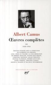 Oeuvres complètes t.3 ; 1949-1956 - Couverture - Format classique