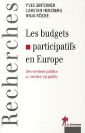 Les budgets participatifs en Europe - Couverture - Format classique