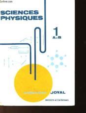 Sciences Physiques - Couverture - Format classique