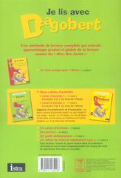 Je lis avec Dagobert ; CP ; cahier d'activité t.1 (édition 2006) - 4ème de couverture - Format classique