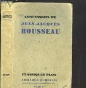 Confessions De Jean-Jaqcues Rousseau - Tome I - Couverture - Format classique