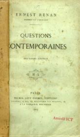 Questions Contemporaines - Couverture - Format classique