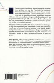Psychanalyse du lien ; théorie et clinique - 4ème de couverture - Format classique