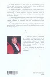 Le droit europeen : son application en france - 4ème de couverture - Format classique