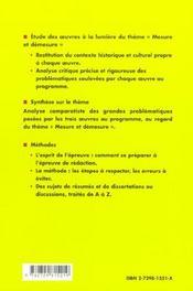 Mesure Et Demesure Prepas Scientifiques 2003-2005 Platon Gorgias Rabelais Gargantua Moliere Dom Juan - 4ème de couverture - Format classique