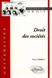 Droit Des Societes - Couverture - Format classique