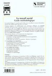 Le travail social guide methodologique - 4ème de couverture - Format classique