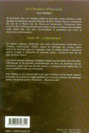 Les chevaliers d'Emeraude T.7 ; l'enlèvement - 4ème de couverture - Format classique