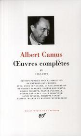 Oeuvres complètes t.4 ; 1957-1959 - Couverture - Format classique