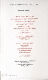 Oeuvres complètes t.4 ; 1957-1959 - 4ème de couverture - Format classique