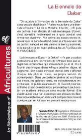 La Biennale de Dakar ; pour une esthétique de la création africaine contemporaine ; tête à tête avec Adorno - 4ème de couverture - Format classique