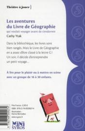 Les aventures du livre de géographie qui voulait voyager avant de s'endormir - 4ème de couverture - Format classique