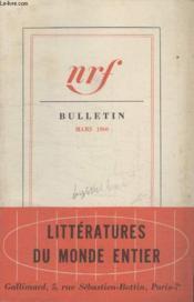 Bulletin Mars 1960 N°147. - Couverture - Format classique