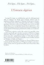 Entracte algerien - 4ème de couverture - Format classique