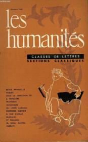 Les Humanites - Classe De Lettres - Octobre 1960 - Couverture - Format classique