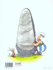 Astérix T.20 ; Astérix en Corse - 4ème de couverture - Format classique