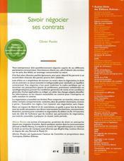 Savoir négocier ses contrats - 4ème de couverture - Format classique