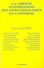 La liberte d'expression des fonctionnaires en uniforme - Intérieur - Format classique
