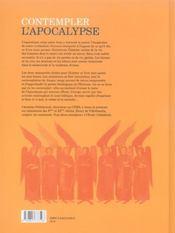Contempler l'apocalypse - 4ème de couverture - Format classique