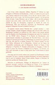 Les Beauharnais t.1 ; les grands ancêtres - 4ème de couverture - Format classique