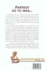 Partout Ou Tu Iras... - 4ème de couverture - Format classique