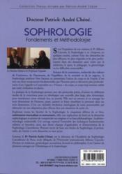 Sophrologie t.1 ; fondements et méthodologie - 4ème de couverture - Format classique