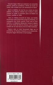 Château en Suède - 4ème de couverture - Format classique