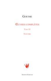 Oeuvres complètes t.3 ; théâtre - Couverture - Format classique