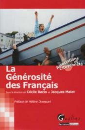 La générosité des Français - Couverture - Format classique