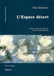 L'espace désert - Couverture - Format classique