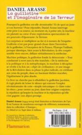 La guillotine et l'imaginaire de la Terreur - 4ème de couverture - Format classique